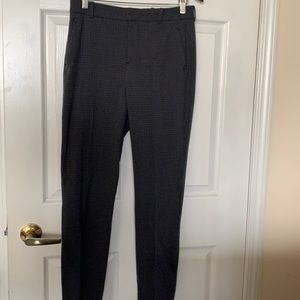 ZARA Houndstooth Straight Leg Pants